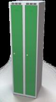 Šatníková skrinka Aldop - dvojplášťové dvere, šírka / počet oddelenia: 250 mm / 2