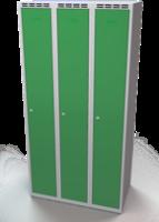 Šatníková skrinka Aldop - dvojplášťové dvere, šírka / počet oddelenia: 300 mm / 3