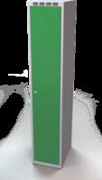Šatníková skrinka Aldop - dvojplášťové dvere, šírka / počet oddelenia: 350 mm / 1