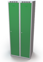Šatníková skrinka Aldop - dvojplášťové dvere, šírka / počet oddelenia: 350 mm / 2