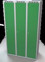 Šatníková skrinka Aldop - dvojplášťové dvere, šírka / počet oddelenia: 350 mm / 3