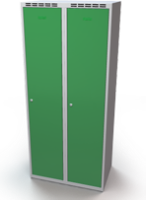 Šatníková skrinka Aldop - dvojplášťové dvere, šírka / počet oddelenia: 400 mm / 1