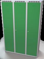 Šatníková skrinka Aldop - dvojplášťové dvere, šírka / počet oddelenia: 400 mm / 3