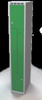 Šatňové skrinky - dvouplášťové dvere tvaru Z, kovové A1M 30 1 Z S