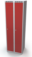 Šatníková skrinka Alsin - jednoplášťové dvere, šírka / počet oddelenia: 300 mm / 2