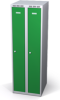 Šatňové skrinky zníženej - dvojplášťové dvere A1M 25 2 1 S V15
