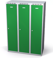 Šatňové skrinky zníženej - dvojplášťové dvere A1M 35 3 1 S V15