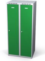 Šatňové skrinky zníženej - dvojplášťové dvere A1M 40 2 1 S V15