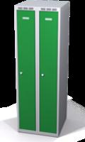Šatníková skrinka Aldop znížená - dvojplášťové dvere, šírka / počet oddelenia: 250 mm / 2