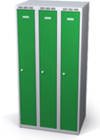 Šatníková skrinka Aldop znížená - dvojplášťové dvere, šírka / počet oddelenia: 250 mm / 3
