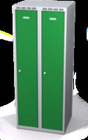 Šatníková skrinka Aldop znížená - dvojplášťové dvere, šírka / počet oddelenia: 300 mm / 2