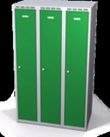 Šatníková skrinka Aldop znížená - dvojplášťové dvere, šírka / počet oddelenia: 300 mm / 3