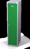 Šatníková skrinka Aldop znížená - dvojplášťové dvere, šírka / počet oddelenia: 400 mm / 1