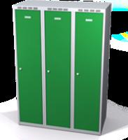 Šatníková skrinka Aldop znížená - dvojplášťové dvere, šírka / počet oddelenia: 400 mm / 2