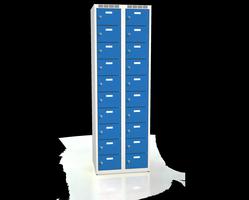 Skříň s boxy - jednoplášťové dveře L2M 30 2 10 O