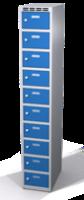 Šatníková skrinka s boxami Alsin - jednoplášťové dvere, 10 boxov (1 oddelenie)