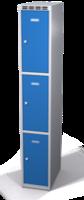 Šatníková skrinka s boxami Alsin - jednoplášťové dvere, 3 boxy (1 oddelenie)