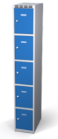 Šatníková skrinka s boxami Alsin - jednoplášťové dvere, 5 boxov (1 oddelenie)