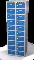 Šatníková skrinka s boxami Alsin - jednoplášťové dvere, 20 boxov (2 oddelenia)