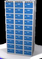 Šatníková skrinka s boxami Alsin - jednoplášťové dvere, 30 boxov (2 oddelenia)