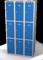 Šatníková skrinka s boxami Alsin - jednoplášťové dvere, 9 boxov (3 oddelenia)
