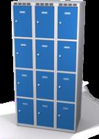 Šatníková skrinka s boxami Alsin - jednoplášťové dvere, 12 boxov (3 oddelenia)