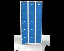 Skříň s boxy - dvouplášťové dveře A2M 30 3 5 O