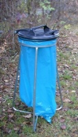 Stojan na odpadkové vrecia - oceľ-plast MM700095