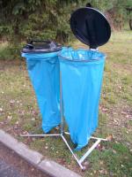Stojan na odpadkové vrecia - oceľ-plast MM700096