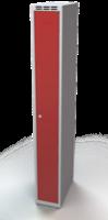 Odolná šatníková skrinka - dvojplášťové dvere, šírka / počet oddelení: 250 mm / 1