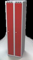 Odolná šatníková skrinka - dvojplášťové dvere, šírka / počet oddelení: 500 mm / 2