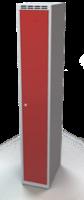 Odolná šatníková skrinka - dvojplášťové dvere, šírka / počet oddelení: 300 mm / 1