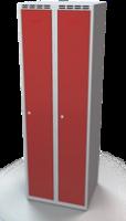 Odolná šatníková skrinka - dvojplášťové dvere, šírka / počet oddelení: 600 mm / 2