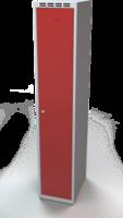 Odolná šatníková skrinka - dvojplášťové dvere, šírka / počet oddelení: 350 mm / 1