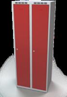 Odolná šatníková skrinka - dvojplášťové dvere, šírka / počet oddelení: 700 mm / 2
