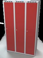 Odolná šatníková skrinka - dvojplášťové dvere, šírka / počet oddelení: 1050 mm / 3