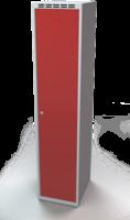 Odolná šatníková skrinka - dvojplášťové dvere, šírka / počet oddelení: 400 mm / 1