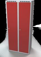 Odolná šatníková skrinka - dvojplášťové dvere, šírka / počet oddelení: 800 mm / 2