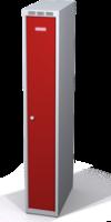 Odolná šatníková skrinka Aldur 1 znížená - dvojplášťové dvere, šírka / počet oddelení: 250 mm / 1