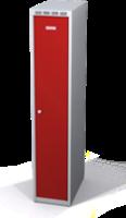 Odolná šatníková skrinka Aldur 1 znížená - dvojplášťové dvere, šírka / počet oddelení: 300 mm / 1