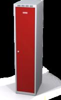 Odolná šatníková skrinka Aldur 1 znížená - dvojplášťové dvere, šírka / počet oddelení: 350 mm / 1