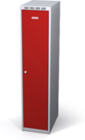 Odolná šatníková skrinka Aldur 1 znížená - dvojplášťové dvere, šírka / počet oddelení: 400 mm / 1