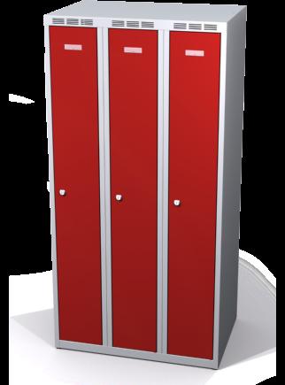 Zosilnené šatňové skrinky zníženej s dvojplášťovými dverami